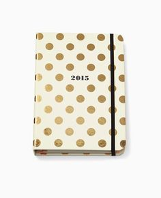 pretty gold polka dotted agenda from kate spade