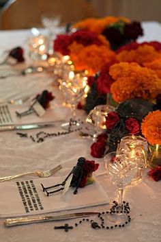 Dia De Los Muertos Day Of The Dead party table