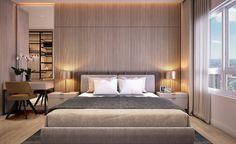 Modern Bedroom Design, Master Bedroom Design, Contemporary Bedroom, Modern Room, Morden Bedroom, Hotel Room Design, Master Room, Condo Living, Minimalist Bedroom