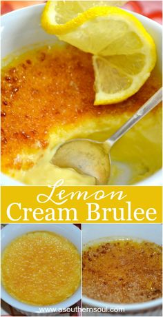 Luscious and creamy with a sweet crunchy top ~ lemon cream brûlée is one delicious dessert!