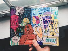 art journal-ing from Deborah Arte Sketchbook, Sketchbook Pages, Sketchbook Layout, Sketchbook Ideas, Art Sketches, Art Drawings, Arte Punk, Posca Art, Art Hoe