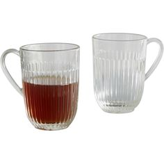 Classic French ribbed glass mug  -Perfect for your herbal tea -Suitable for hot and cold drinks