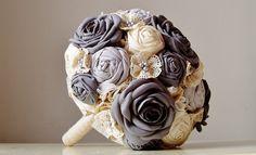 Fabric Flower Bouquet crochet flower