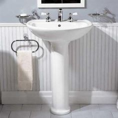 American Standard Cadet Pedestal Sink Combo in White-0236.411.020 at The Home Depot