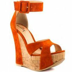 Some Nights - Orange - orange heels Orange Heels, Orange Wedges, Some Nights, Most Beautiful, Sandals, Stylish, Boots, Amanda, Prom