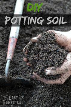 Potting Soil Garden How to make your own diy potting soil mix recipe potting soil diy potting soil workwithnaturefo