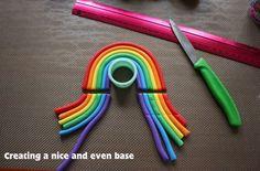 How to make a Gumpaste Rainbow - by TheGreedyBaker @ CakesDecor.com - cake decorating website