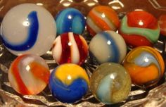 10 RARE AKRO AGATE CORKSCREW MARBLES MINT TO MINT PLUS OUTSTANDING COLLECTOR LOT