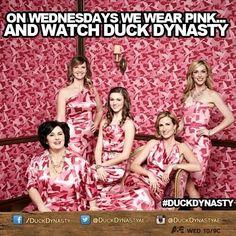 A Good Reason To Wear Pink!!!Twitter / DuckDynastyAE: On Wednesday we watch ...
