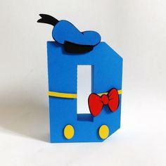 letras 3D decoração festas tema Disney Donald