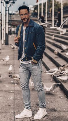 casual menswear that is unbelievable - Men's Fashion Mode Masculine, Streetwear Mode, Streetwear Fashion, Best Winter Outfits Men, Style Casual, Men Casual, Casual Menswear, Men's Style, Urban Fashion