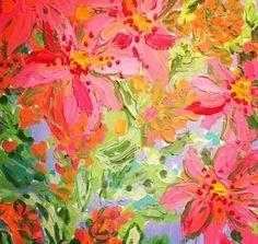 Pink and green flower painting - The Art Asylum Art Moderne, Arte Floral, Love Art, Painting Inspiration, Art Photography, Abstract Art, Illustration Art, Canvas Art, Drawings