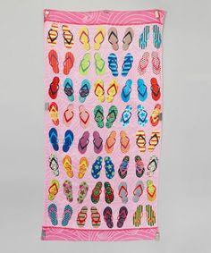 Orchid Flip-Flops Beach Towel by Island Gear #zulily #zulilyfinds                                                                    10.99