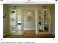 RepurposedRoomDividerIdeas Bookshelf Room Divider Wall Bookshelves Shelves Build
