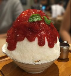 AFTER YOU. Strawberry Cheesecake Japanese style shaved ice!