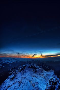 Seen while preparing for moonlight photography on top of Säntis mountain in Switzerland.