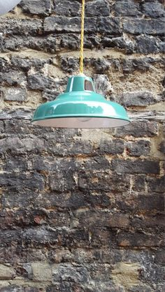 1930s industrial lights - PAT tested, £65.00 by SW2Vintage @AndyMW2602: These are original 1930s green enamel industrial pendant lights. They are 10 inches in diameter. I have 8 in total and the price is per light. They are in incredibly good condition with only minor rust marks and few other blemishes. I have had them professionally rewired with new brass fittings and expensive vintage style cable (2 meters long). Happy to consider deals if you buy more than one....