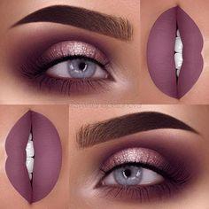"Brows: @anastasiabeverlyhills dipbrow in chocolate and ebony Eyeshadow: @motivescosmetics pro color kit eyeshadow palette Glitter: @rxycosmetics Lashes: @jkbeauty_shop ""California"" Lips: @hanadibeauty @hanadibeautylashes Mocha"