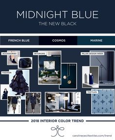 Interior color trends 2018 | indigo blue | midnight blue | navy | navy kitchens | home decor | paint color | fashion