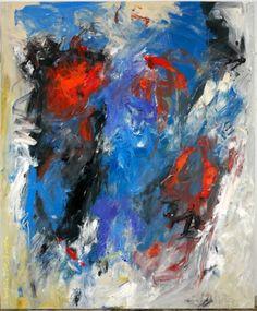 Charlotte Molenkamp, Dramatic Blue, 180 x 150 cm, olie op linnen