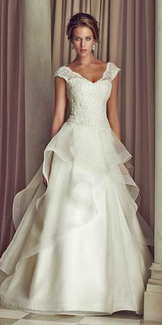 36 Gorgeous A Line Wedding Dresses ❤ See more: http://www.weddingforward.com/a-line-wedding-dresses/ #wedding