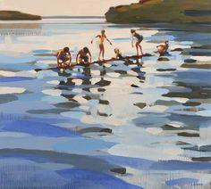 Mixed Media Art Auctions – Buy Abstract Art Right Abstract Landscape, Abstract Art, Art Stand, Guache, Water Art, Beach Art, Art Auction, Types Of Art, Pebble Art