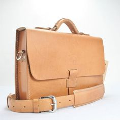 Men's Women'sLeather Messenger Bag  by WhiteBuffaloRepublic