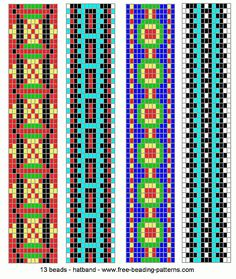 Loom+Beading+Patterns | hatband-loom-beadwork-014