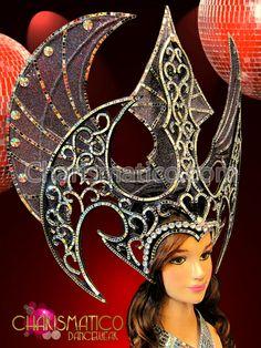 Charismatico Dancewear Store - CHARISMATICO Black Glitter with Mirror Edging and Iridescent Crystals Batman Gothic Headdress, $175.00 (http://www.charismatico-dancewear.com/products/CHARISMATICO-Black-Glitter-with-Mirror-Edging-and-Iridescent-Crystals-Batman-Gothic-Headdress.html)