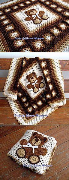 Crochet Anever Ending Love Square Baby Afghan Crochet, Crochet Quilt, Baby Girl Crochet, Crochet Baby Clothes, Afghan Crochet Patterns, Baby Knitting Patterns, Baby Patterns, Quilt Patterns, Love Crochet