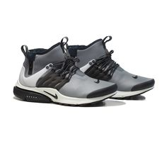 NIKE Air Presto Mid Utility - Grey/Off White-Volt