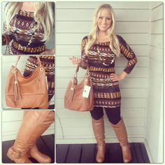 {ancient history} tunic $36.74; shown with leggings $16.74, boots $46.74
