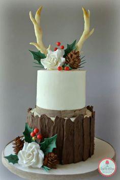 Antler Christmas Cake