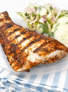 Grilled Alaskan Halibut Steak
