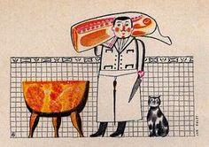 Image detail for -Vintage Illustration: butcher, 1967 - Found in Mom's Basement