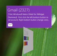 Windows 8 MetroUI GMail notification tile for xWidget