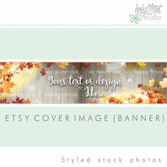 Etsy Banner with Autumn theme by www.HolyMintStudio.Etsy.com