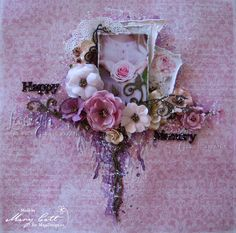 Mary's Crafty Moments: ''Happy Memory'' - DT Layout for Maja Design June Moodboard
