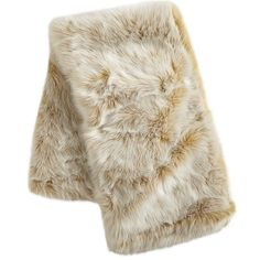 Ombre Faux Fur Throw - Gold   Pier 1 Imports