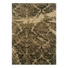 Linon Florence Area Rug - Taupe / Olive - RUG-FL0323
