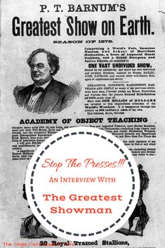 "Have you heard the man behind the show? Check out this ""fake"" interview with P.T. Barnum, the greatest showman on Earth. And watch the movie December 20."