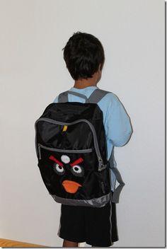 angry bird backpack
