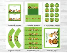 Safari Jungle Animal Birthday Party Pack by LittlePrintsParties