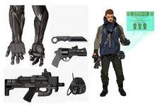 cyberpunk bounty hunter by ashleyboonePierce