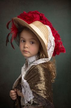 Australian photographer Bill Gekas depicts his daughter in the style of master painters