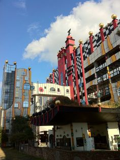 Maishima waste treatment center Osaka by Friedensreich Regentag Dunkelbunt Hundertwasser