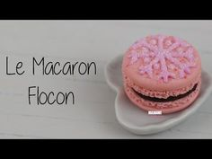 Macaron Flocon/French Macaroon (Tuto Fimo/polymer clay tutorial) - YouTube