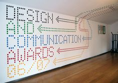 Wall graphic for the Design and Communication Awards 06/07