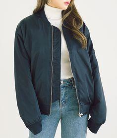"ha-roro: "" 10WORLD "" Kfashion Korean fashion Ulzzang Aestheitc Fashion Bomber Jacket"
