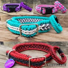 Custom Paracord Bracelet - Matching Dog Collar and Bracelet - Dog and Owner Accessories Diy Dog Collar, Collar And Leash, Dog Collars, Paracord Braids, Paracord Bracelets, Paracord Dog Leash, Tsumtsum, Paracord Projects, Fabric Tape